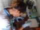 14/03/2015 - Daniela realizando o hemograma