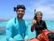 26/02/2015 - O veterinário Victor R. Souza e a nossa parceira de trabalho Talytha Rocha Soares, prontos para o mergulho de coleta de amostras.